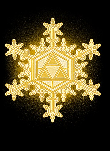 - Rectangle Refrigerator Magnet - Triforce Snowflake - Parody Design