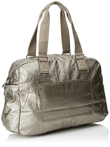 21 Travel 45 Bag L Tote July Pewter Kipling cm Metallic wTqxY5I