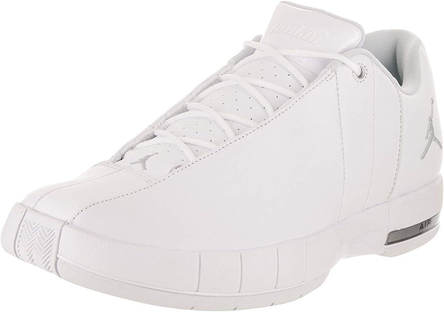 6ccca4e615811 AO1696-100: Team Elite 2 Low Men's White/Metalic Silver Sneakers (7.5 D(M)  US)