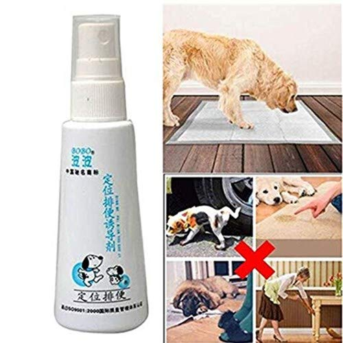 Training Puppies Aid Spray Liquid Pet Dog Cat Training Spray Potty Locating Fluid Guide Mats Yorkshire Bulldog Chihuahua etc Small Medium Large Pets (White)