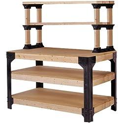 2x4basics 90164 Workbench and Shelving Storage System