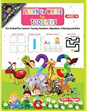 Learn to Write for Toddlers | Pre-school, Pen control, Tracing, Numbers, Alphabets, Coloring and more: Fun games and learning activities to practice the alphabets, numbers and words
