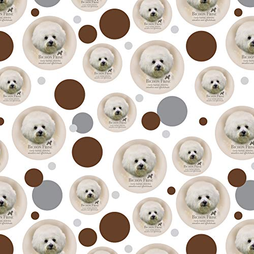 - GRAPHICS & MORE Bichon Frise Dog Breed Premium Gift Wrap Wrapping Paper Roll