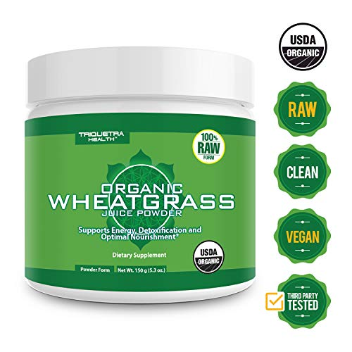 Juice Powder Barley Usa Grass - Organic Wheatgrass Juice Powder - Grown in Volcanic Soil of Utah - Raw & BioActive Form, Cold-Pressed Then CO2 Dried - Complements Barley Grass Juice Powder - 5.3 oz
