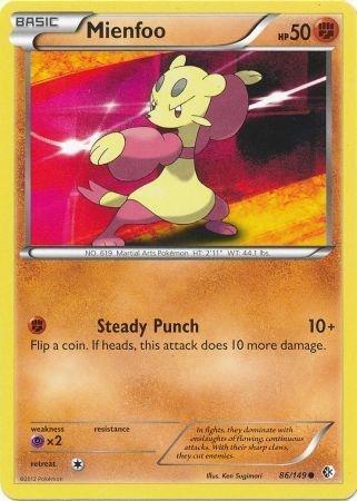 Pokemon - Mienfoo (86/149) - BW - Boundaries Crossed - Reverse Holo (Pokemon Card Mienfoo)