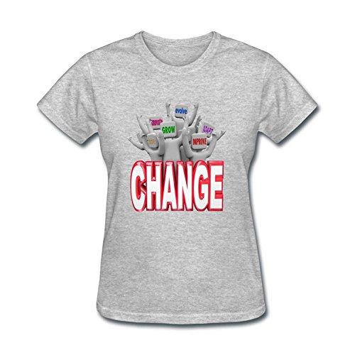 Heerinsy Women's Group Cheering People Change Color Short Sleeve T-Shirt XXL