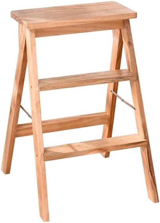 WYYY silla de Oficina De Madera Taburete De Escalera 2 Pasos Multifuncional Plegable Portátil Escalera De Estanteria Cocina Biblioteca Durable Fuerte (Color : Wood Color): Amazon.es: Hogar