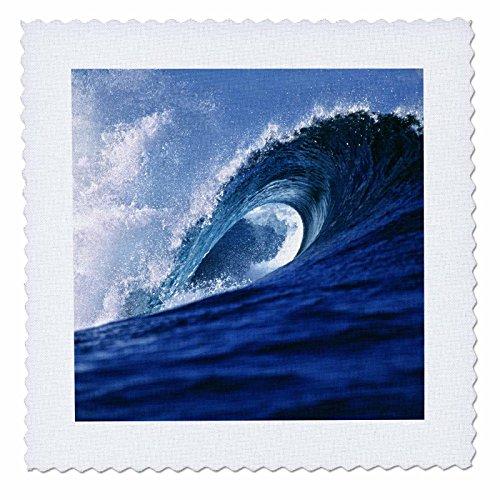 3dRose qs_84863_4 Fiji Islands, Tavarua, Cloudbreak, Surfing waves - OC01 RER0008 - Ric Ergenbright - Quilt Square, 12 by 12-Inch - Fiji Comforter