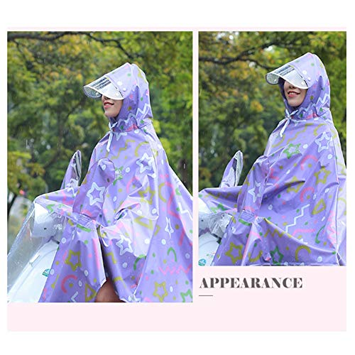 Geyao color Modèles Femelle Xxxl Mignon Électrique Moto Coréens Simple Batterie Blue Mode Size Purple Poncho Chevauchement Épaississement Voiture Imperméables Vélo Adultes wHqgangA5
