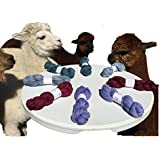 Hand Dyed Baby Alpaca Yarn, Subtle Shades Periwinkle, Dk Weight, 80 Grams, 200 Yards, 100% Baby Alpaca