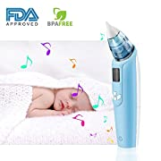 Infanso Baby Nasal Aspirator Electric Nose Cleaner with 3 Adjustable Suction Level, 4 Silicone Tips, Music and Light, FDA approved and BPA Free, Safety and Reliable for Newborns and Toddlers
