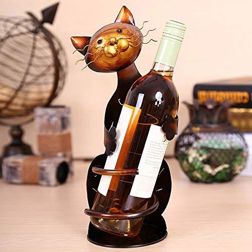 Metyere Gatos Forma Vino Soporte Botellero Estantería Metal Escultura Práctico Hogar: Amazon.es: Hogar