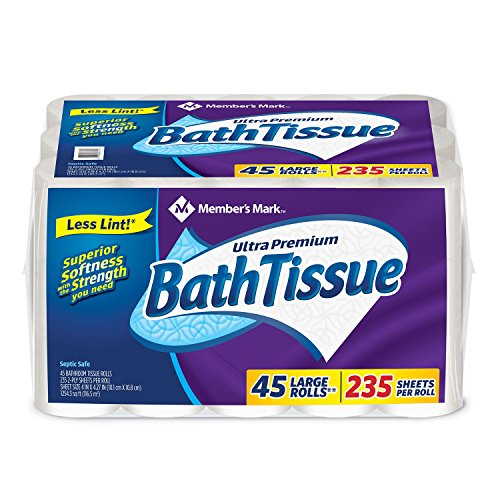 Member's Mark Ultra Premium Bath Tissue, 2 ply (232 sheets, 45 rolls) (Club Tissue)