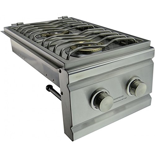 RCS RDB1 Stainless Steel Double Side Burner Up to 24000 BTUs Natural ()