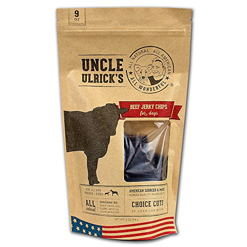 Uncle Ulrick'S All Natural And All American Beef Jerky Chips For Dogs, 9 Oz