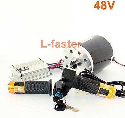 L-faster Motor de 36V48V 1000W Unitemotor MY1020 con el Acelerador y el regulador Motor Eléctrico de la Impulsión de la Cadena de la Vespa del Poder Más Elevado DIY Gocart Kit