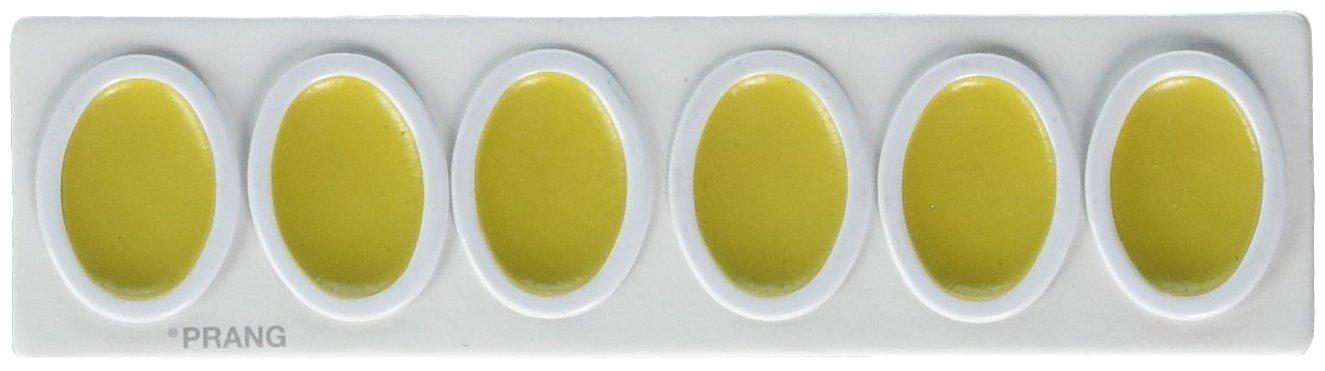 Prang Refill Pans for Oval Watercolor Set, 12 per Box, Yellow (00803)