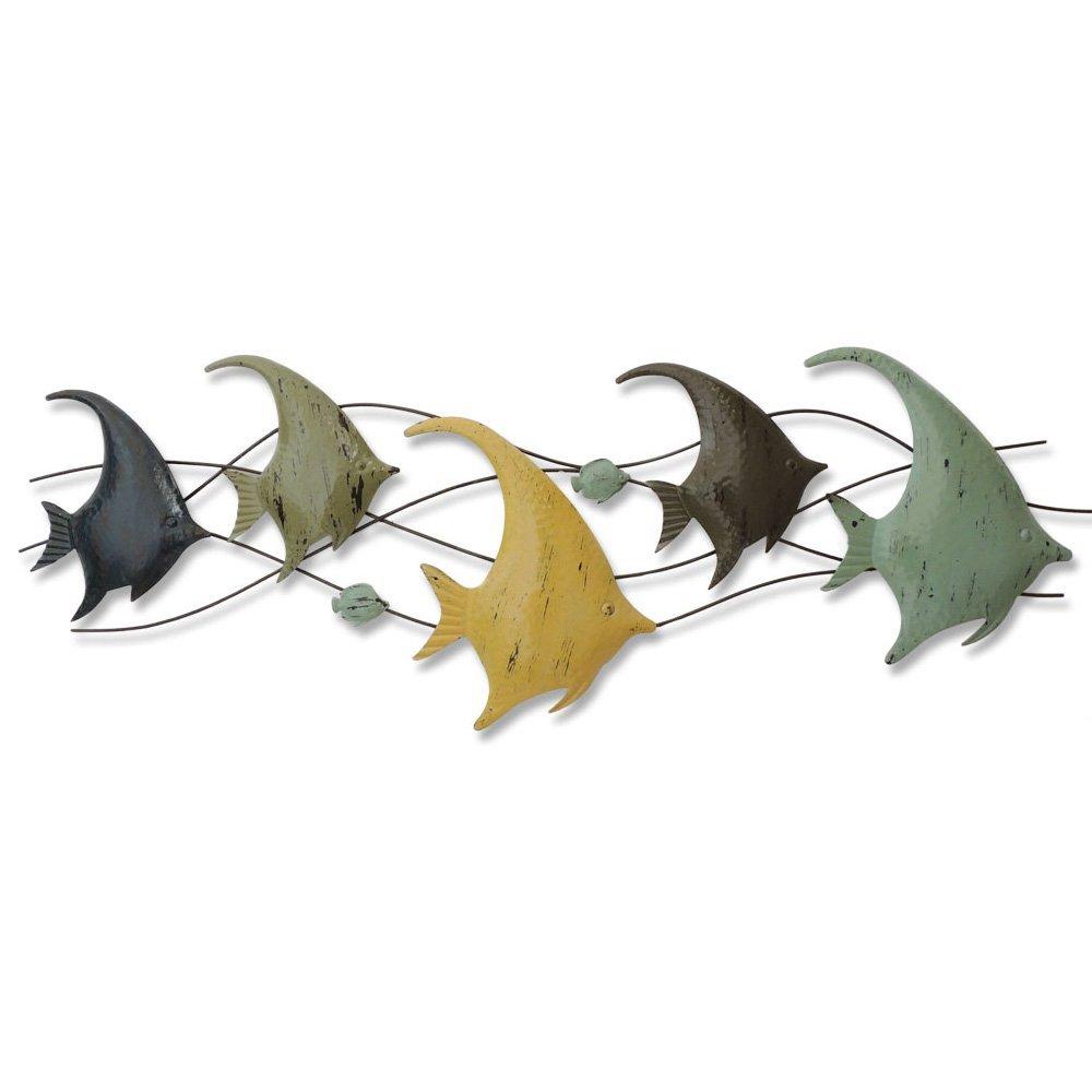 海洋風 壁飾り 壁掛け ウォールアート おしゃれ デザイン 魚 アニマル フィッシュ ディスプレイ アイアン インテリア 飾り品 玄関 リビング OSONA B01H3HR2YY