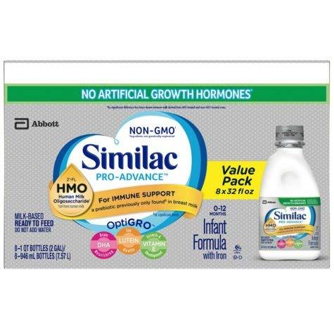 Similac Pro-Advance Non-GMO Baby Formula - Ready to Feed - 32 Ounce - 6 pk
