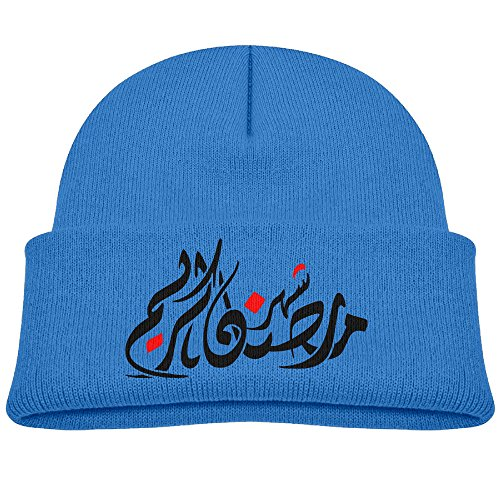 Price comparison product image Youth Kids Ramadan Boys And Girls Flexible Wool Winter Beanies For Child RoyalBlue