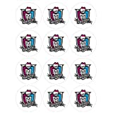 """Single Source Party Supplies - 2.5"""" Monster High Cupcake Edible Icing Toppers #3 - Qty 12"""