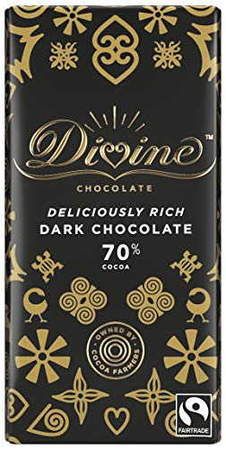 DIVINE CHOCOLATE FAIR TRADE 70% Dark Chocolate 100 G X 3 Pack