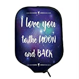YOLIYANA I Love You Durable Racket Cover,Outer Space Background with I Love You to The Moon and Back Typography for Sandbeach,One Size