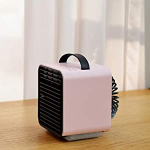 WT Portable Mini Air Cooler,air Conditioner USB Power Purify Humidifier Personal Air Space Cooler Fan Office Outdoors-b 12x12.7x13.2cm(5x5x5inch)