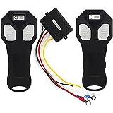 BARHAR 12V Wireless Remote Control Kit for Truck Jeep ATV Winch (Black 3)
