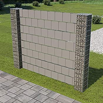 Amazon com: Festnight Gabion Mesh Wire Wall Panel with 2