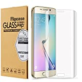 Galaxy S7 Edge Screen Protector,Galaxy S7 Edge Tempered Glass, Flipcase [Bubble Free][9H Hardness][HD Clear] [Full Coverage], Tempered Glass Screen Protector for Samsung Galaxy S7 Edge