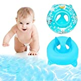 Eonkoo Summer New Baby Swimming Pool Float Seat Boat Inflatable Swimming Rings Pvc Fabric Handle Safety Seat Lifebuoy for Toddler Children Sunshade Swim Toy Set