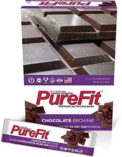 - PureFit Gluten-Free Nutrition Bars with 18 grams Protein: Chocolate Brownie, 2 oz Bars, Pack of 15