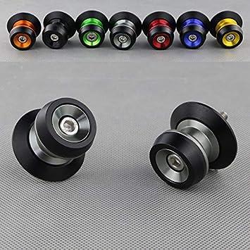 MUJUN Reserva For Accesorios de For BMW S1000RR HP4 S1000R S1000XR Motocicleta CNC de Aluminio basculante Deslizante Carretes Soportes Tornillos Bobinas Color : Black