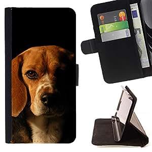 Momo Phone Case / Flip Funda de Cuero Case Cover - Beagle perro del labrador retriever Cachorro; - Samsung Galaxy Note 4 IV