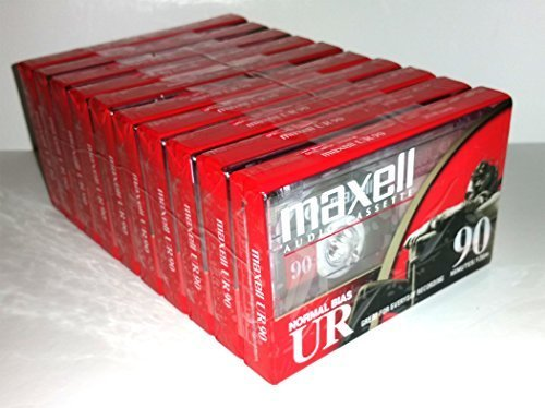Maxell UR 90 Position IEC Type I Normal Audio Cassette - 10 Pack