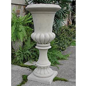 Brookfield Tall Fluted Urn- Natural White