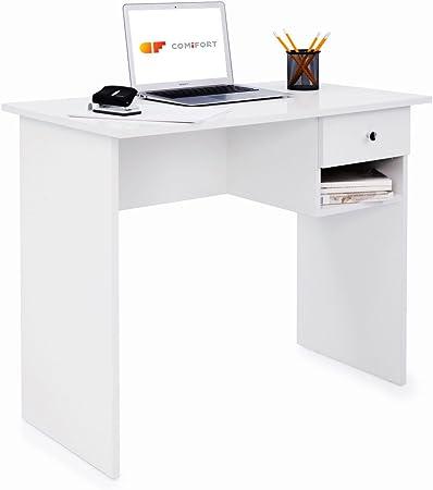 ESTILO: Mesa de trabajo de diseño sencillo, minimalista y funcional con buena capacidad de almacenaj