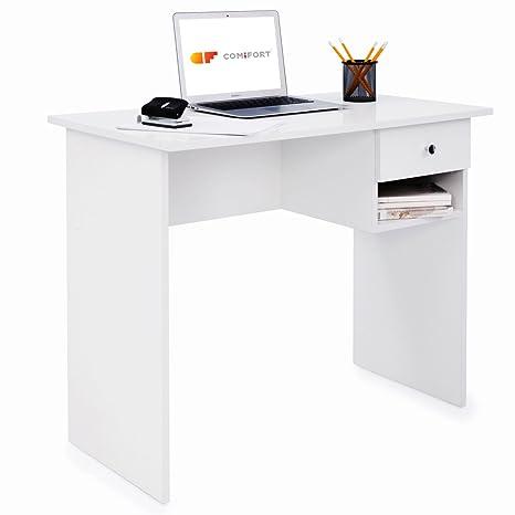 Comifort Scrivania con cassetto e ripiano, tavolo per PC, per ...