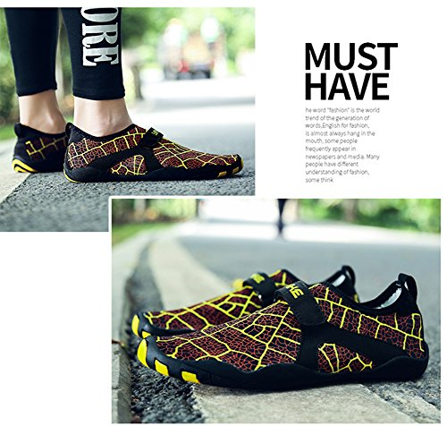 Outdoor Heeled Shoes Casual Mesh Wading Mutifunctional Unisex L Flat Breathable Yellow RUN Sports wIqgCC
