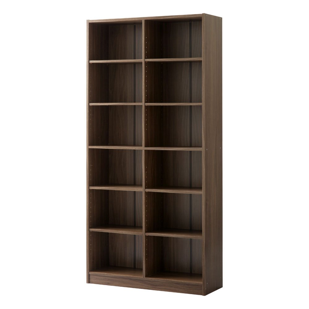 【完成品】 本棚 薄型 ラック 棚 木製 書棚 本箱 シェルフ 収納 コミック 大容量 おしゃれ 〔幅900〕 ウォールナット B01EWLXY5A 完成品|ウォールナット ウォールナット 完成品