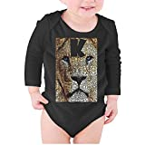 T-COPER Baby Long-Sleeve Onesies King of Animals Africa Lion Infant Cute Cotton Bodysuits
