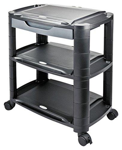 (Alera ALEU3N1BL 3-in-1 Storage Cart and Stand, 21-5/8