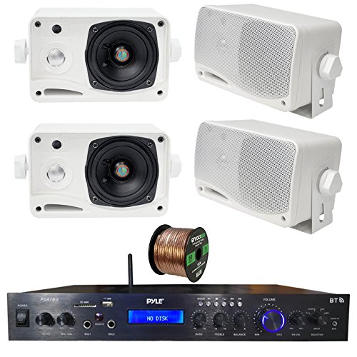 Pyle Home Theater Amplifier Audio Bluetooth MP3/USB/SD/AUX/F