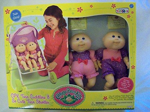 Cabbage patch kids cuddle n' stroll stroller+ twin cuddlers + twin.