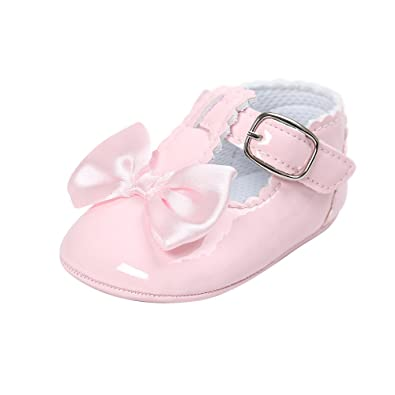 66021000b39 MK MATT KEELY Baby Girls Princess Shoes with Bows Newborn Infant Soft Sole  Bowknot Crib Sneakers