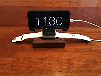 Walnut Wood Apple Watch and iPhone Docking Station