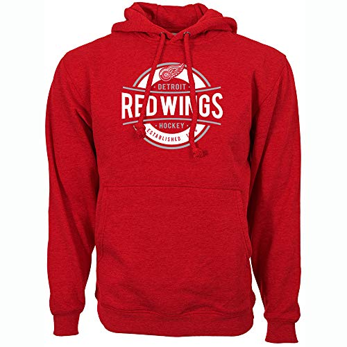 Levelwear NHL Detroit Red Wings Mens Peyton Advantage Hoody, Flame Red, - Wings Hoodie Red