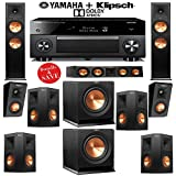 (US) Klipsch Reference Premiere RP-280F 7.2.2 Dolby Atmos Home Theater System with Yamaha RX-A3060BL 11.2-Ch Network A/V Receiver