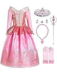 Girls Princess Dress up Aurora Costume